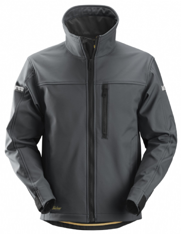 Snickers 1200 AllroundWork Softshell Jacket (Steel Grey / Black)